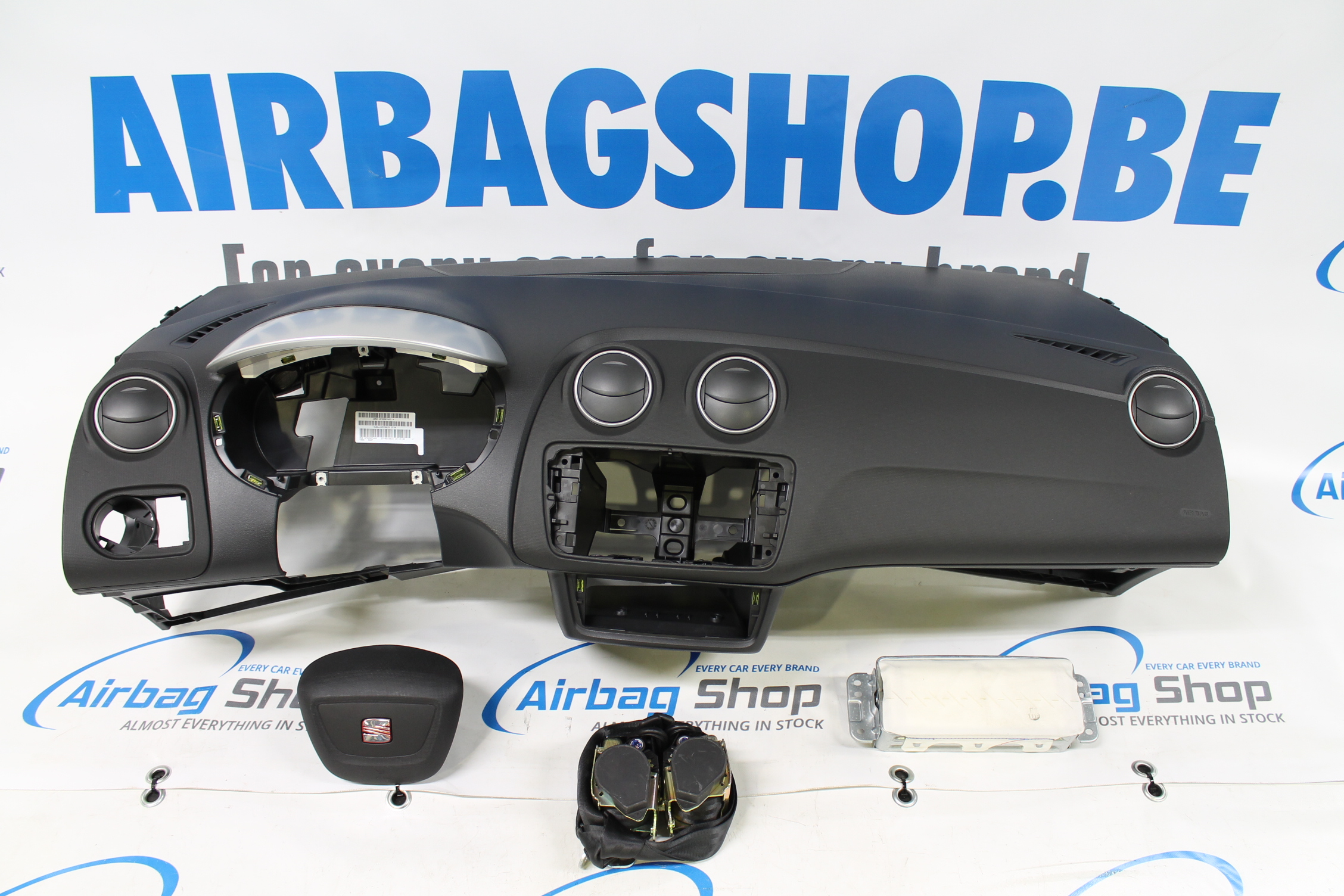 Airbag Kit Tableau De Bord Noir Bordeaux Seat Ibiza