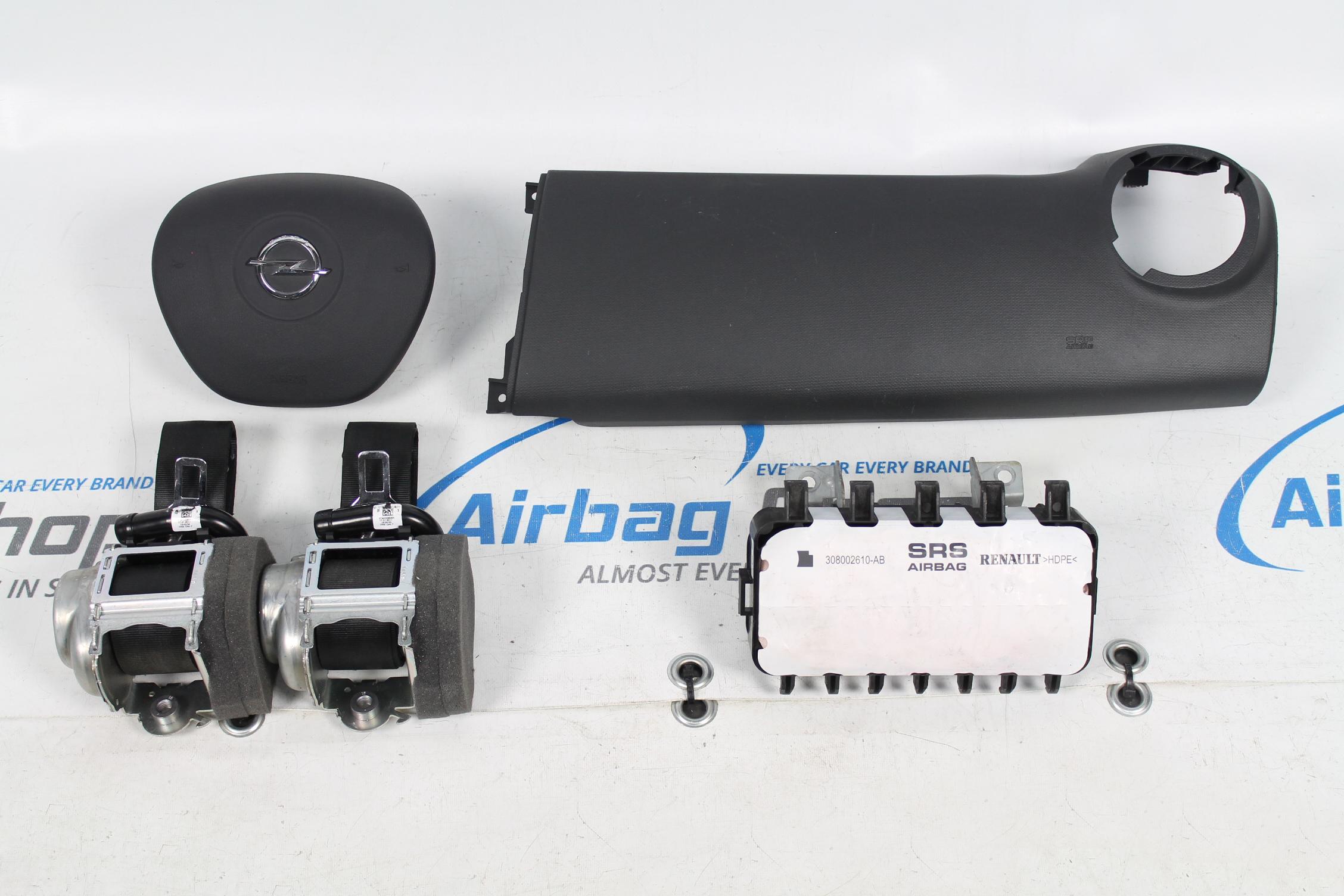 airbag set dashboard panel black opel vivaro 2014. Black Bedroom Furniture Sets. Home Design Ideas