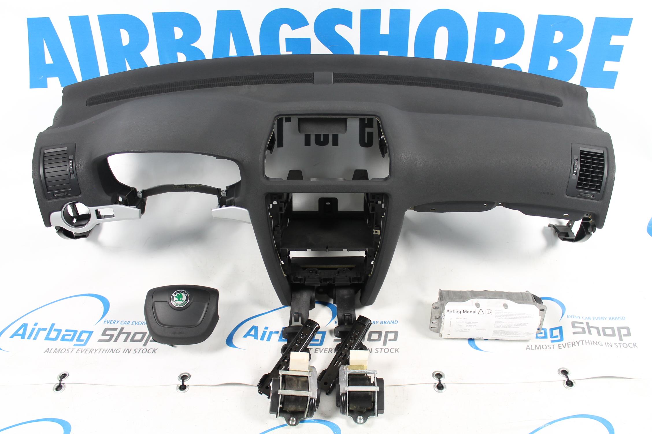 airbag set dashboard skoda octavia 2009 2013. Black Bedroom Furniture Sets. Home Design Ideas