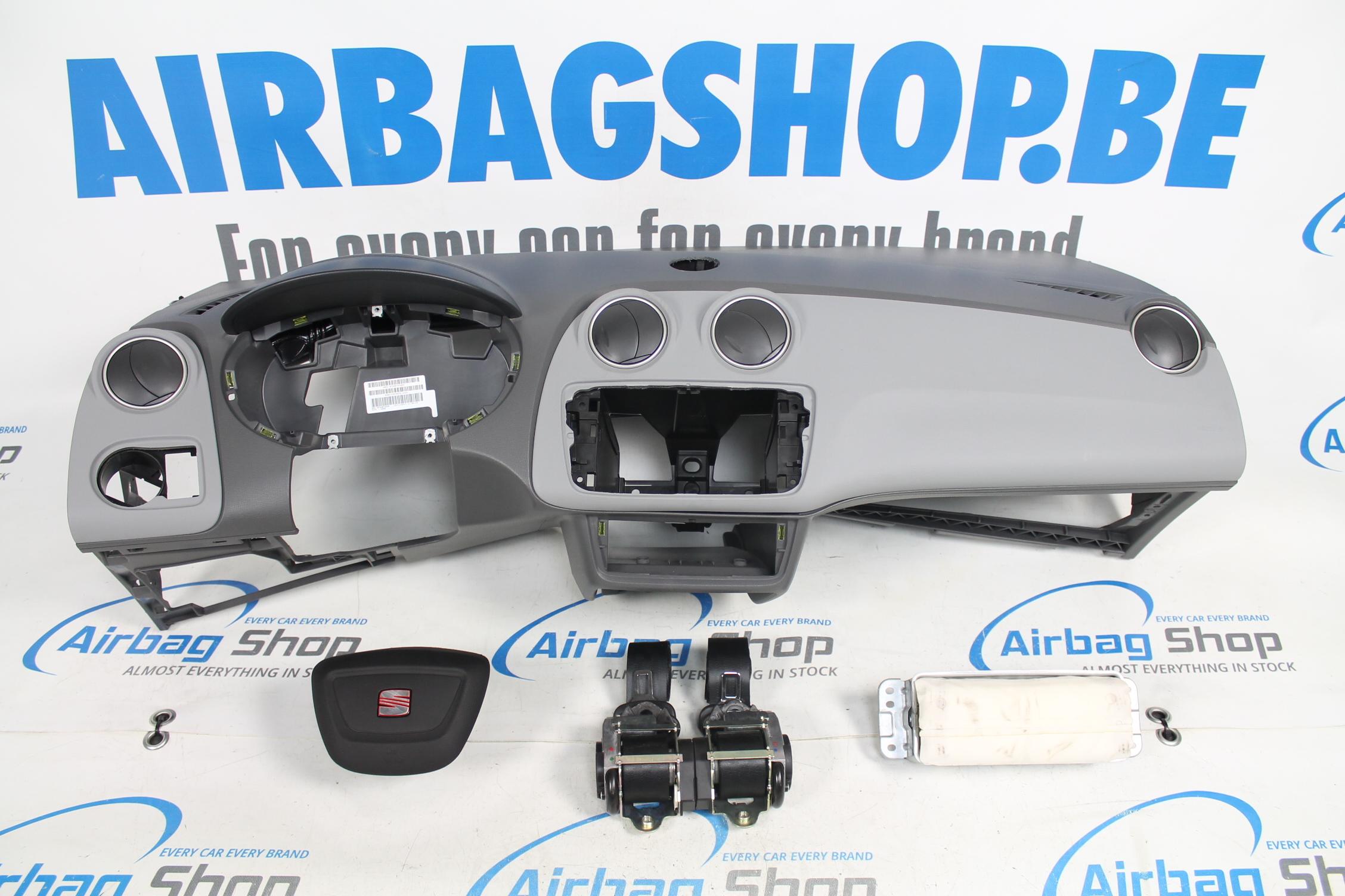 Airbag Kit Cruscotto Grigio Con Navi Seat Ibiza 6j
